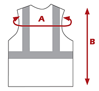 Class 2 Flame Resistant Vests - Dimensions Guide