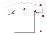 Non-ANSI Crew Neck T-Shirts - T-Shirt Sizing Guide