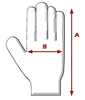 Journeyman KV Professional Workman's Glove - Dimensions Guide
